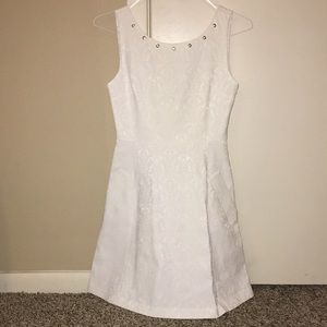 Zara white jacquard dress